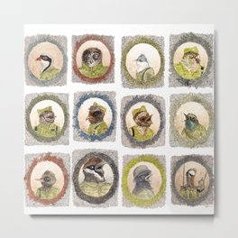 The Birdy Dozen Metal Print