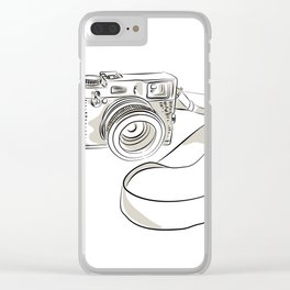 35mm SLR Film Camera Drawing Clear iPhone Case