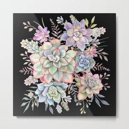 Watercolor Succulent #55 Metal Print