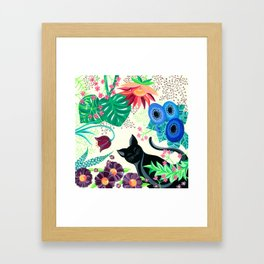Natures Confetti Cat  Framed Art Print