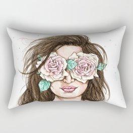 white roses in their eyes (female version) Rectangular Pillow