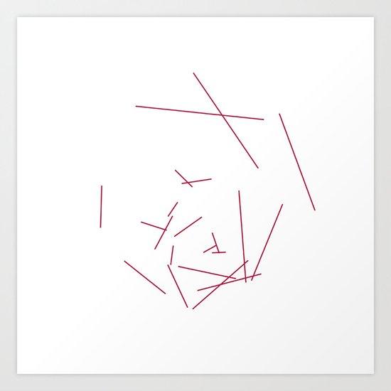 #328 Hexaboom – Geometry Daily Art Print
