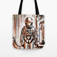 2001 Tote Bags featuring 2001 by Joe Badon