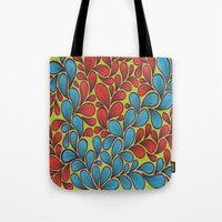 good vibes Tote Bags featuring Good Vibes by Sarah J Bierman