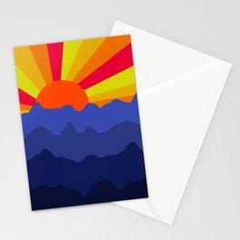 Purple Mountain Sunrise Minimal Landscape  Stationery Cards