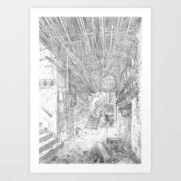Kowloon walled city. Hong Kong Art Print