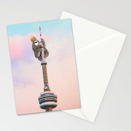 Sloth King - Geometric LowPoly style Stationery Cards