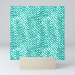 Hand Knit Aqua Mini Art Print