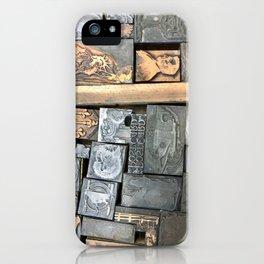 Letterpress type drawer iPhone Case