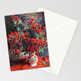 Claude Monet ''Chrysanthèmes rouges'' Stationery Cards