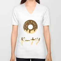 donut V-neck T-shirts featuring DONUT. by Dani Does Art