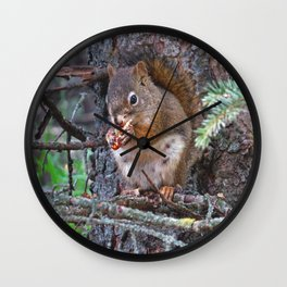 Squirrel Friend Wall Clock