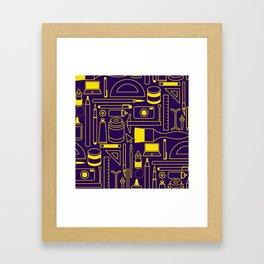 Art Supplies - Eggplant and Yellow Framed Art Print