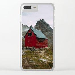 The Mint Hut in Hatcher Pass, Alaska Clear iPhone Case