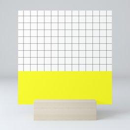 Scandi Grid Sq Y Mini Art Print