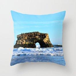 Ocean Arches at Natural Bridges Throw Pillow