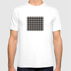optical illusion MEDIUM White Mens Fitted Tee