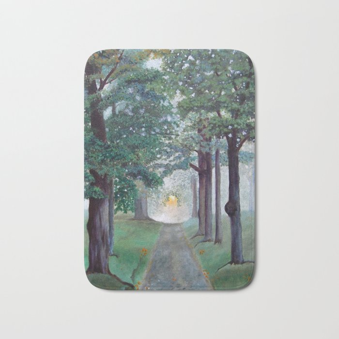Peaceful Path Tree Painting Bath Mat