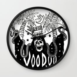 Voodoo Beach Nights Wall Clock