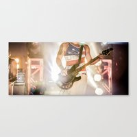 rock and roll Canvas Prints featuring Rock & Roll by MichaelAndrew
