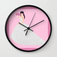 bride Wall Clocks featuring Bride by NeoQlassical