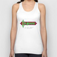 castlevania Tank Tops featuring Castlevania - Die Monster. You Don't Belong In This World! by Aaron Campbell
