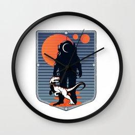 The Astronaut's Pet Wall Clock