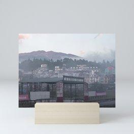 Town in the clouds, Sapa, Vietnam | Travel photography | Landscape photo print | Pink wall art Mini Art Print