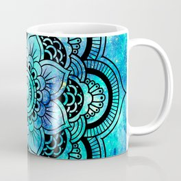 Galaxy Mandala Aqua Indigo Coffee Mug