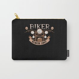 Biker 1967 Born Birthday Gift Motorcycle Carry-All Pouch