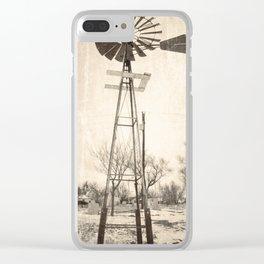 Fair Bury Windmill Clear iPhone Case