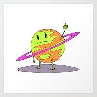 Angry Saturn Art Print