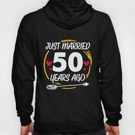 50th 50 year Wedding Anniversary Gift Married Husband Wife print Hoody