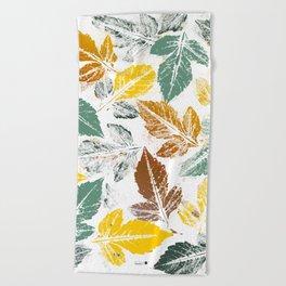 Chic autumn Beach Towel