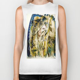 Golden Collar Biker Tank