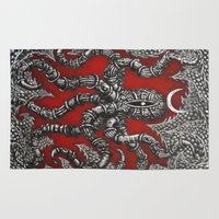 octopus Area & Throw Rugs featuring Octopus by Sherdeb Akadan