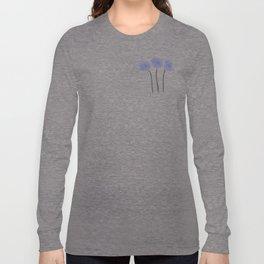 Blue  Anemones Long Sleeve T-shirt
