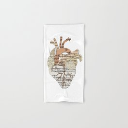 Sound Of My Heart (on white) Hand & Bath Towel