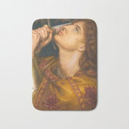 Joan of Arc by Dante Gabriel Rossetti, 1864 Bath Mat