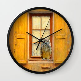 Old Shutter In France Wall Clock