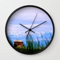 dallas Wall Clocks featuring Dallas Road by Tosha Lobsinger is my Photographer
