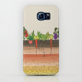Earth soil layers vegetables garden cute educational illustration kitchen decor print iPhone Case