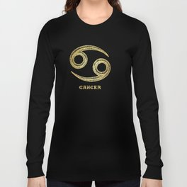 Cancer Zodiac Sign Long Sleeve T-shirt
