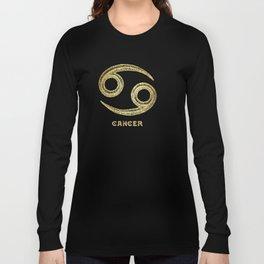 Cancer Zodiac Sign Long Sleeve T-shirt
