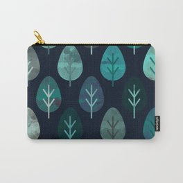 Watercolor Forest Pattern #7 Carry-All Pouch