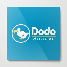 Dodo Airlines Metal Print