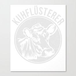 Cow Whisperer Farmer T-Shirt Cow Cattle Lover Tee Canvas Print