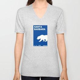 Santa Barbara.  Unisex V-Neck