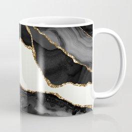 In the Mood Black and Gold Agate Coffee Mug