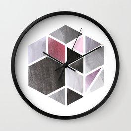 Watercolor Hexagone Wall Clock